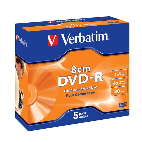 MINI DVD-R Verbatim 2X 1.4Gb (JC)